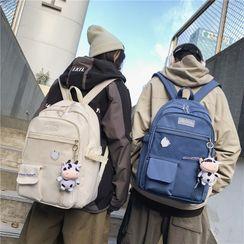 Mulgam - Mesh Pocket Multi-Section Backpack / Bag Charm
