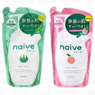 Kracie - Naive Body Wash Refill 380ml - 2 Types