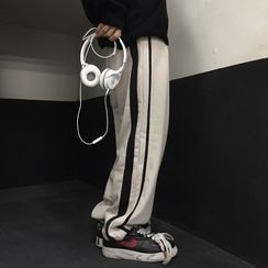 2DAWGS(2ドーグス) - Striped Wide Leg Sweatpants