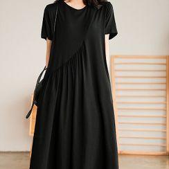 Chuile - 短袖直身連衣中裙