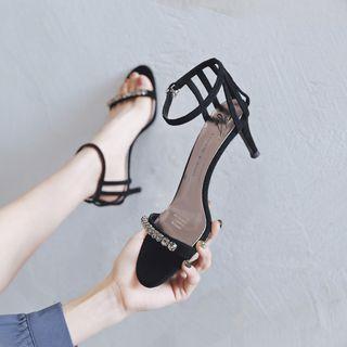 Achelois - High Heel Rhinestone Sandals