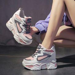 Sleeko - Platform Hidden Wedge Sneakers