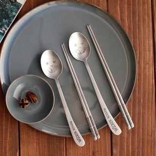 iswas - Emoji-Printed Cutlery Set