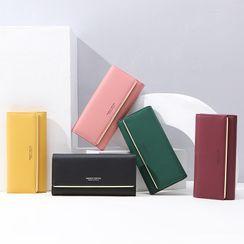 Regalia - Faux Leather Long Wallet