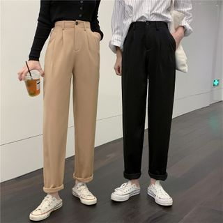 With You - High-Waist Plain Dress Pants