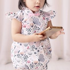 Angeflute - Kids Cap-Sleeve All Over Print One-Piece