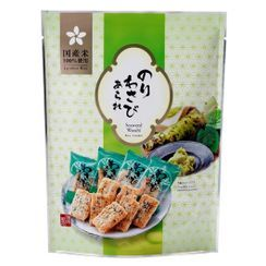 Three O'Clock - Morihaku Seaweed Wasabi Rice Cracker (individually wrapped)