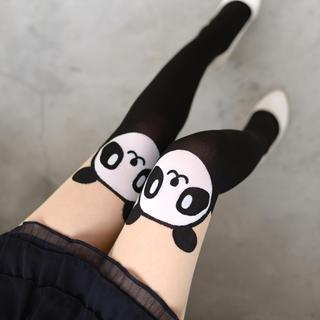 59 Seconds - Panda Print Two-Tone Tights