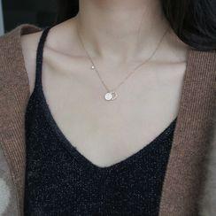 Sugar Lump - 925 Sterling Silver Pendant Necklace
