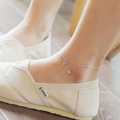 Kulala - Rhinestone Sterling Silver Anklet