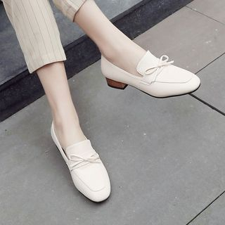 Megan - Faux Leather Slip-On Loafers