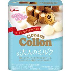 Glico - Rich Milk Cream Sandwich Collon Roll 48g