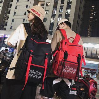 Carryme - Lettering Buckled Lightweight Backpack
