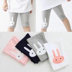 贝壳童装 - 儿童小兔印花短裤