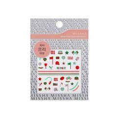 谜尚 - Water Free Decal Nail Sticker (Play Catch)