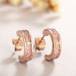 Crystal Midsummer - 圈環耳環