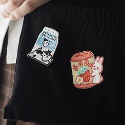 OH.LEELY - 動物及飲料刺繡貼布繡補丁