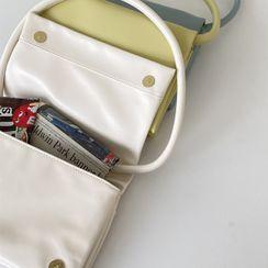 UPTOWNHOLIC - Snap-Button Shoulder Bag