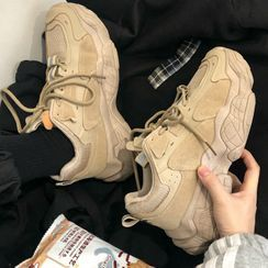 Lazi Boi - Platform Lace-Up Sneakers