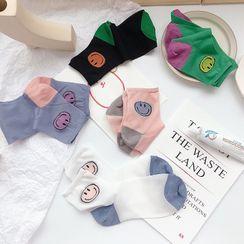 Castellane - Smiley Face Crystal Socks