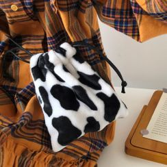 Geolte - Cow Print Drawstring Pouch