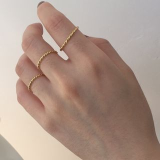 Betsuno - Gold Plated 925 Sterling Silver Ring