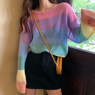 Shopherd - 彩虹長袖毛衣
