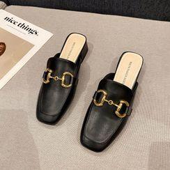 Damino - Chunky-Heel Loafer Mules