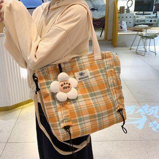 KAMELIS - Plaid Nylon Tote Bag