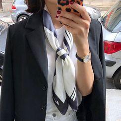 FEY TIY - 印花色丁圍巾