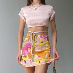 Hotarium - Floral A-Line Skirt