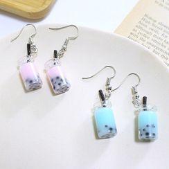 Kendra - Bubble Tea Dangle Earring / Clip-On Earring