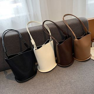 NewTown - Faux Leather Bucket Bag