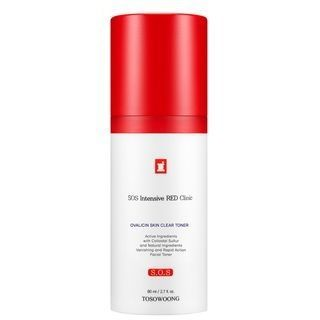 TOSOWOONG - SOS Intensive Red Clinic Ovalicin Skin Clear Toner 80ml