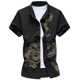 Fireon - 短袖印花襯衫