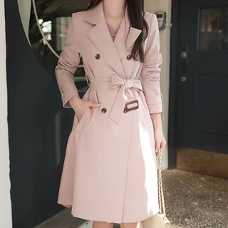 MyFiona - Double-Breasted Belted Trench Coat