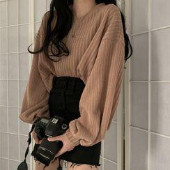 Shopherd - 泡泡袖毛衣