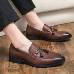 WeWolf(ウィーウルフ) - Faux-Leather Tasseled Loafers