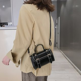 Faneur - Faux Leather Mini Satchel Bag
