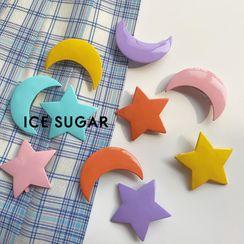 ICE SUGAR - 星星月亮亞克力髮夾