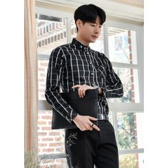 GERIO - Button-Down Checked Shirt