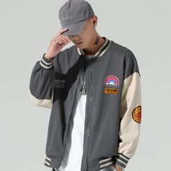 Sindel - Label Embroidery Baseball Jacket