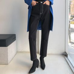 DABAGIRL - Stitched Tapered Cotton Pants
