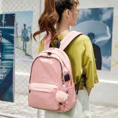Bag Hub(バッグハブ) - Beaded Zip Backpack