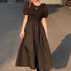 SUGARUS - 短袖A字連衣中裙