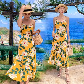 NoCoast - Floral Halter Midi Sun Dress