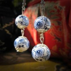 Townlet - Ceramic Bead Drop Hook Earring