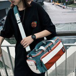 SUNMAN - Top Handle Paneled Crossbody Bag
