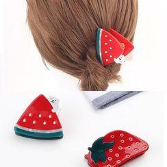 DOWWELL - Acetate Watermelon / Strawberry Hair Clip