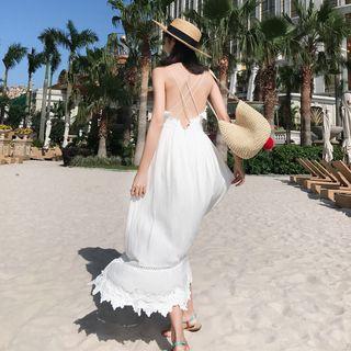 Nebbia - Rückenfreies Maxi-Sommerkleid